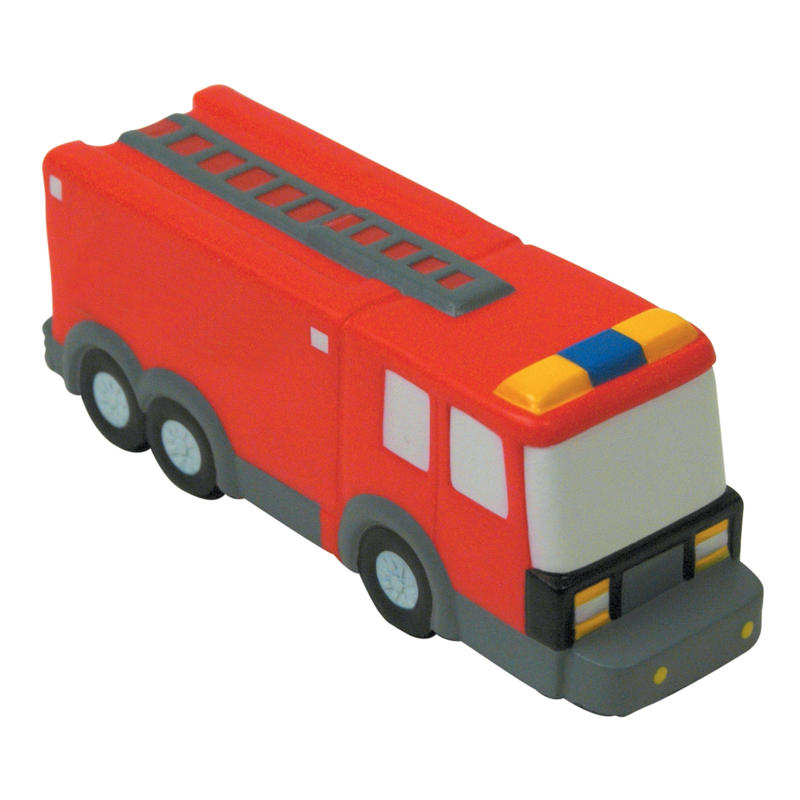 Fire truck stress ball with customized logo