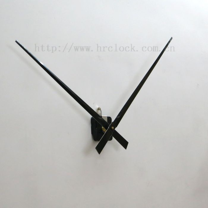 Clock Movement With Long Hands And Wall Mount Case For Large Clock