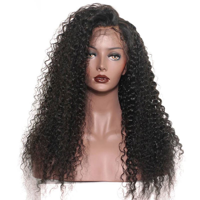 Hot Products 10A Grade Cuticle Aligned Raw Indian Human Hair Wigs Virgin Curly Hair Lace Front Wig With Baby Hair