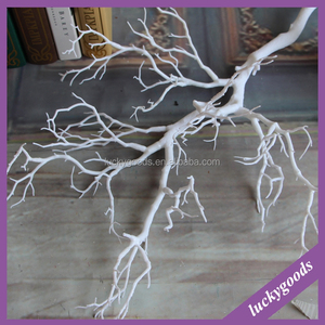wholesale 90cm white dry tree stem for table top decoration