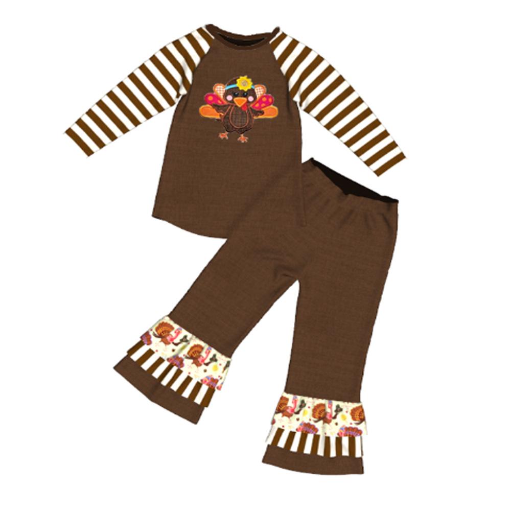 23cd1f9a59c Thanksgiving Turkey Dressy Children Girl Winter Ruffle Clothes - Buy ...