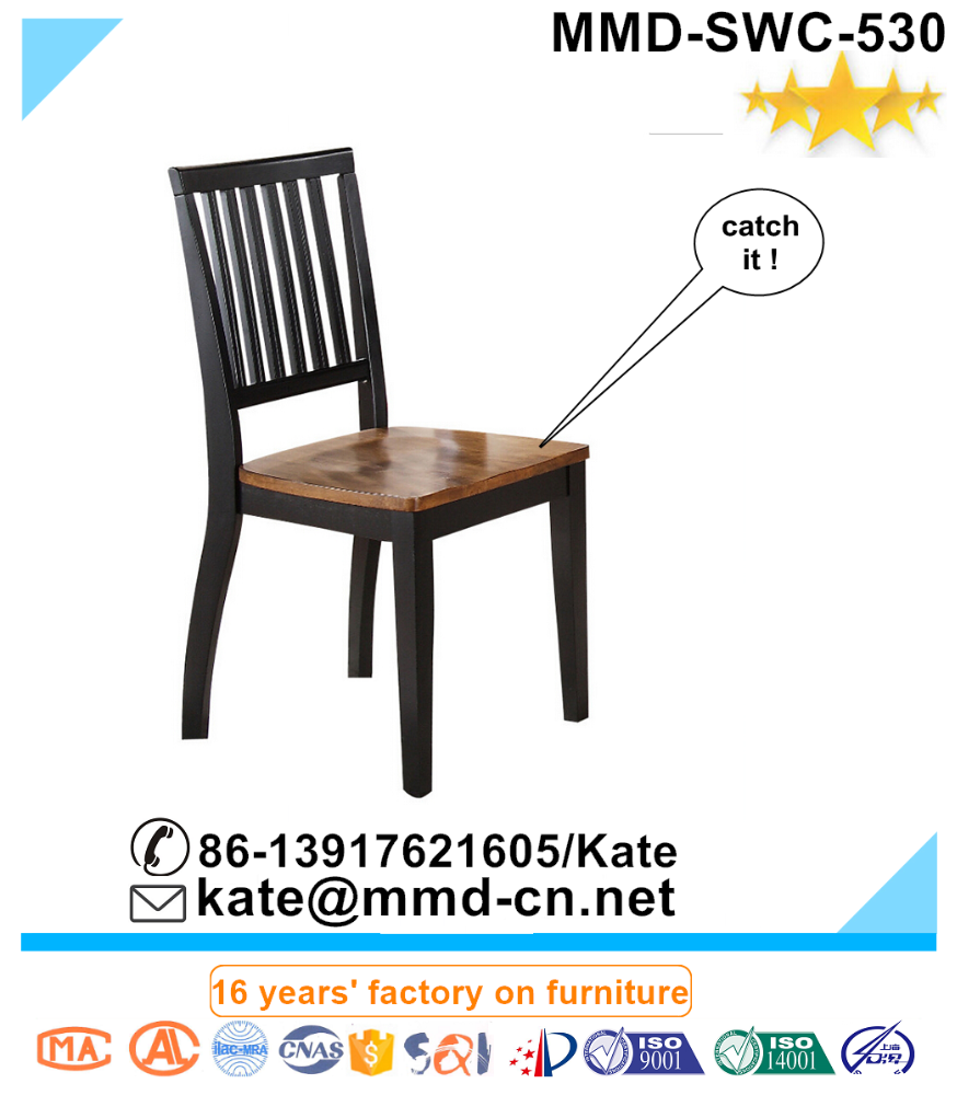 List n de la espalda silla lateral en negro y madera silla de comedor de roble macizo moderna - Sillas para la espalda ...