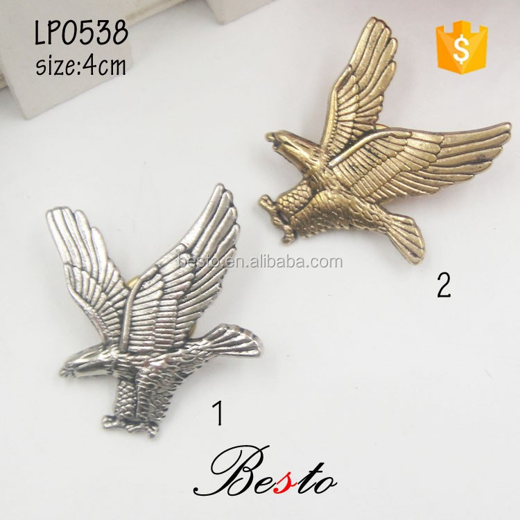 Antique fashion eagle butterfly clutch men suits boutonniere custom metal pin