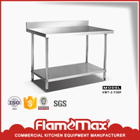 used stainless steel work table with storage for kitchen