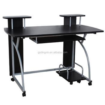 Mailed Order Computer Desk With Keyboard Tray /light Computer Table With  Wheels For Drop Test