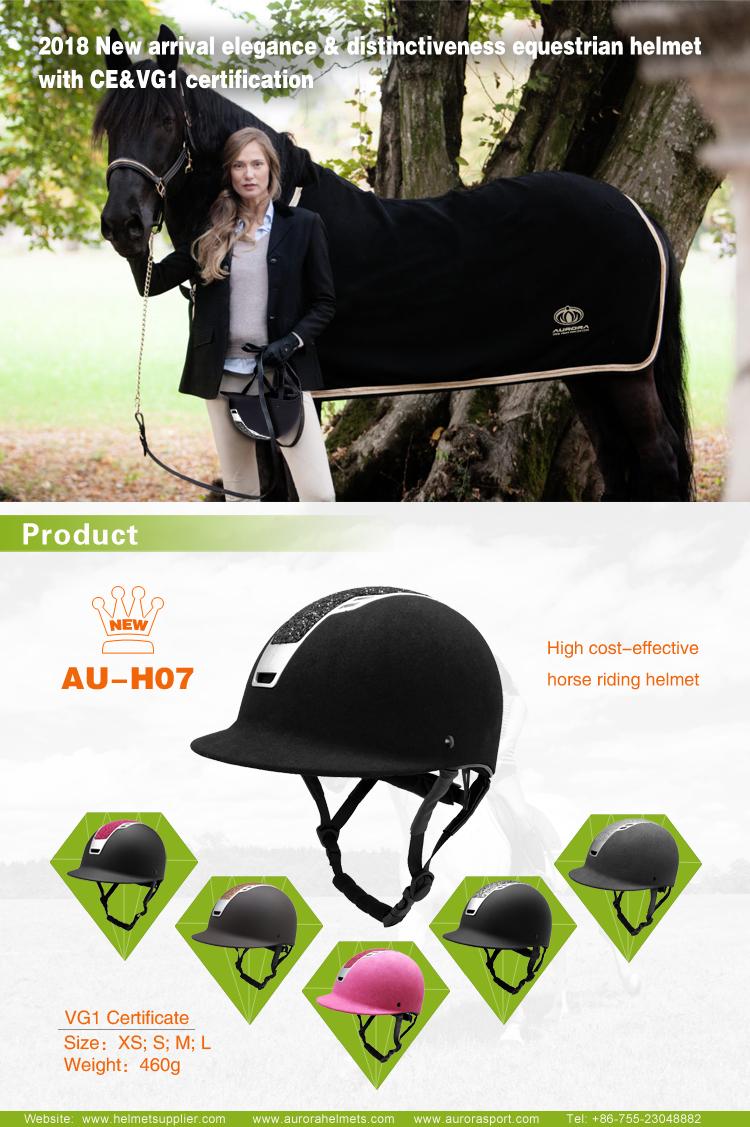 CE VG1 & CE EN 1384:2017 certificated moonlight elegant equestrian helmet 5