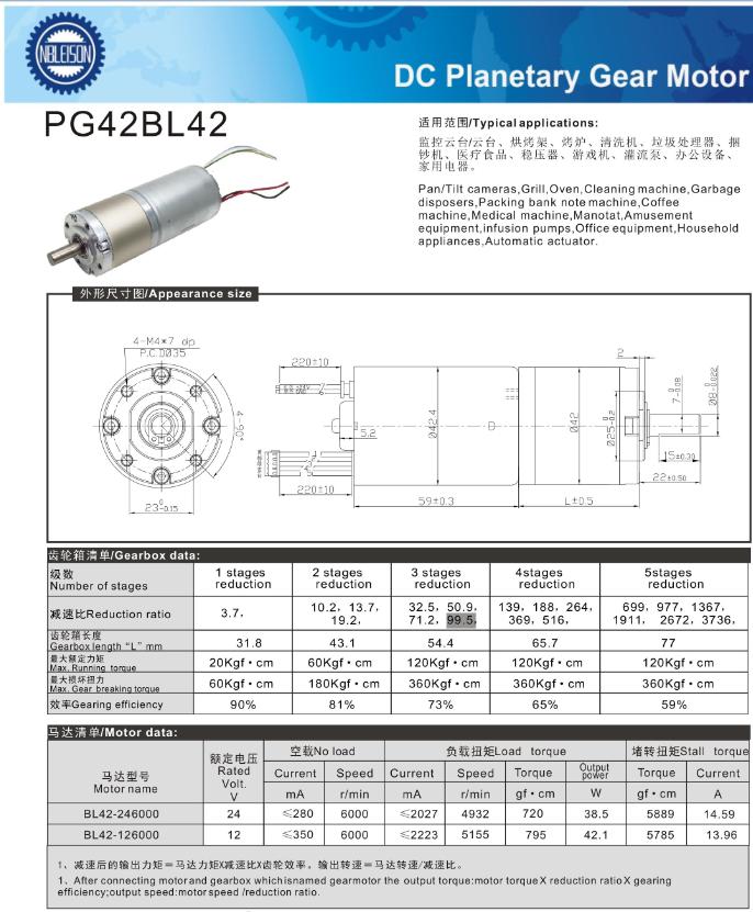 42MM 40W 50W 12V 24V high torque brushless dc motor BLDC Gear Motor, View  high torque brushless dc motor, LEISON MOTOR Product Details from Ningbo