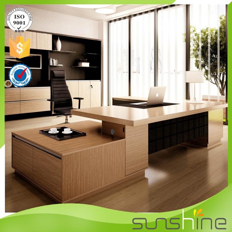 Luxury President Office Desk L Shaped Wooden Chairman Desk - Buy ...