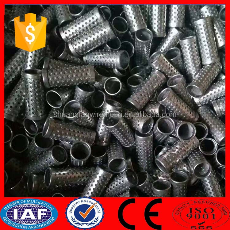 Stainless steel exhaust perforated tube/perforated cylinder/perforated filter