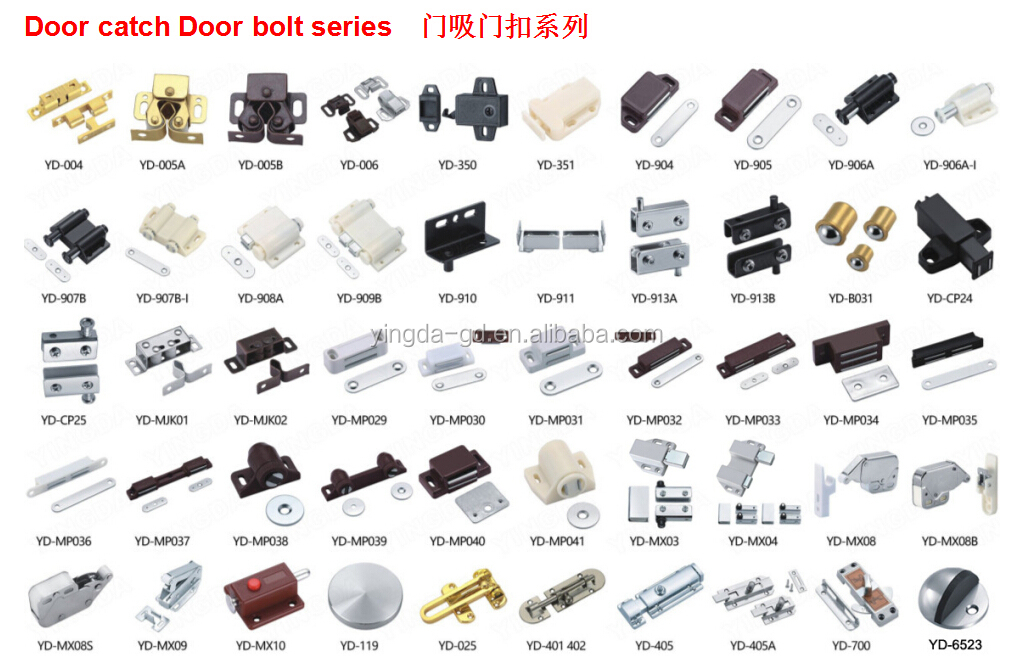 Factory wholesale PP/ABS material Door catch push to open latch