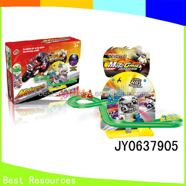 Hot Sale Motorcycle Railway Toys Electronic Motorcycle Slots Toys For Kids