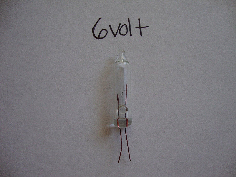 50 Replacement Mini Light Bulbs - 6 Volts - Clear Bulbs - NO BASE - Christmas