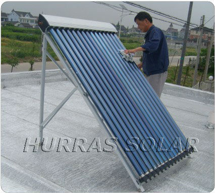 2014heat Pipe Solar Collector Srcc /hotel Hot Water System