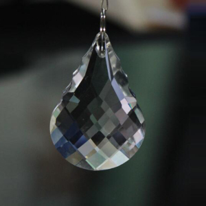 High quality faceted gourd shape crystal beads for chandelier hanging crystal beads
