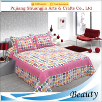 Adult age group poly/cotton fitted quilt bed sheet manufactuer in China