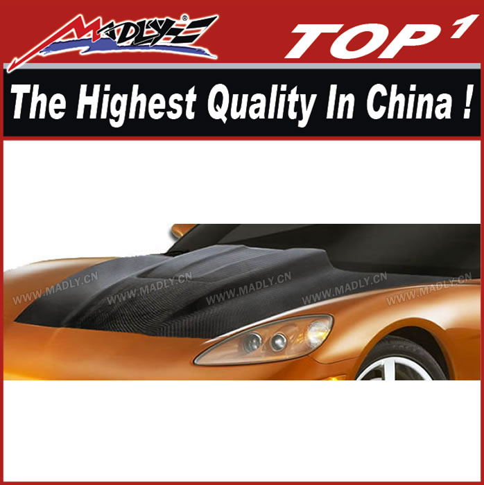 Carbon Fiber body kit for 2005-2013 Chevrolet Corvette C6 Carbon Creations ZR Edition Hood
