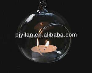 New Design Ball Tealight Hanging Glass Candle Holder