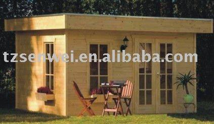 Holzhaus bungalow flachdach  Flachdach Blockhaus, holzhaus bungalow-Fertighaus-Produkt ID ...