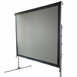 "Outdoor Fast Fold Projection Screen 100"" 16:9 with Stand Bag Foldable 3D 4K Movie Screen"