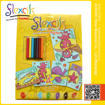 flexcils diy flexible coloring book pencil - Diy Coloring Book