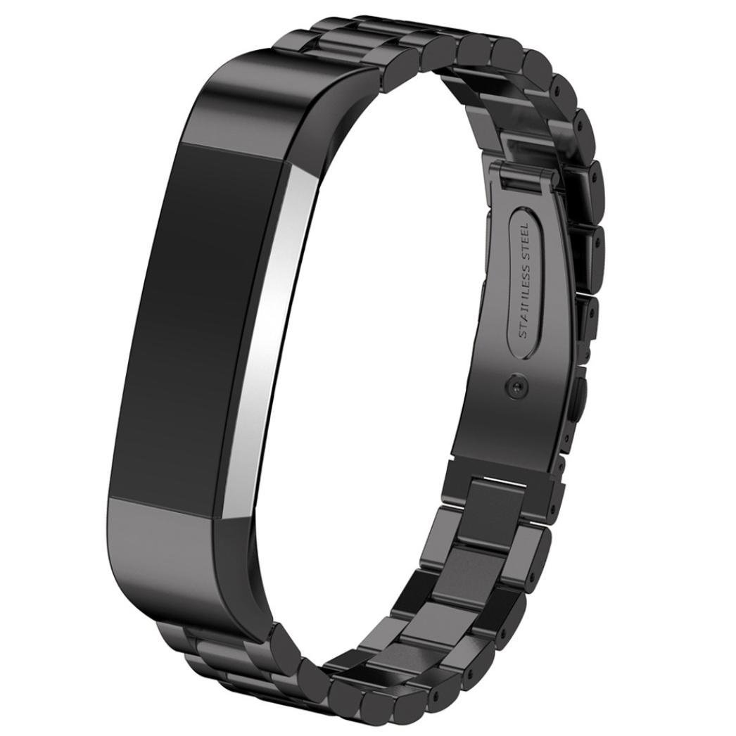 For Fitbit Alta Smart Watch Accessories Band,Elevin(TM) Stainless Steel Watch Band Wrist strap for Fitbit Alta Smart Watch (Black)
