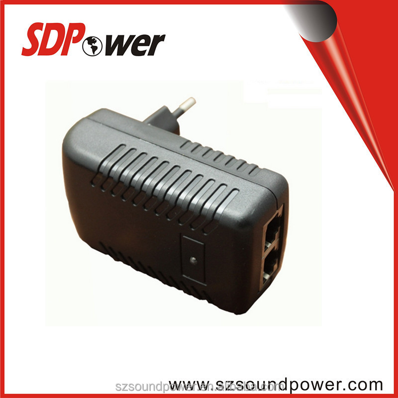 2 ports 24V 1A 48v 0.5a wallmount POE power adapter