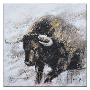 Modern Avrupa Stil Bull Serin Sanat Boyama Buy Bull Boyama