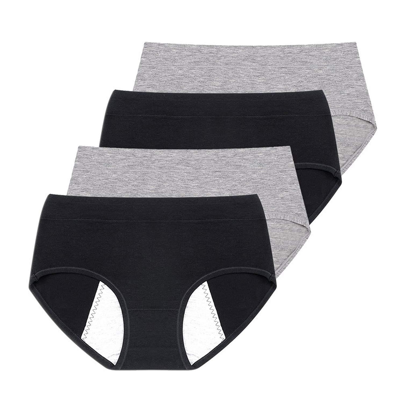 cf006f3dc3 Get Quotations · Phennie s Big Girls Menstrual Period Panties No Leak Briefs  Teen Girls Free Leak Underwear Pack of