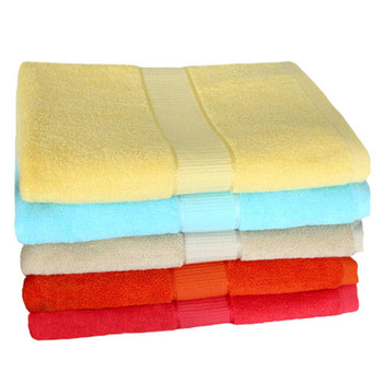 Wholesale High Quality Solid Color Dobby Cotton Bath Towel luxurious Home Solid Color Cotton Bath Towel,100%Cotton Bath Towel