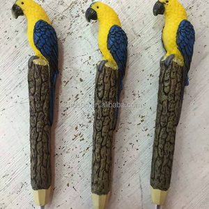 Parrot craft design animal resin cheap ball pen for promotion