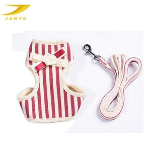 Customized cotton rope dog leash clothes