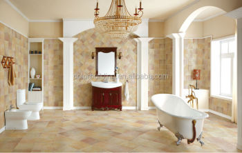 bathroom tile color combinations 395x395 clearance floor rustic porcelain tile with beautiful pattern - Bathroom Tiles Color Combination