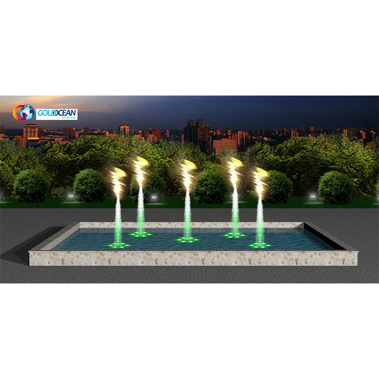 FREE DESIGN Special flame cold fire and water fountain