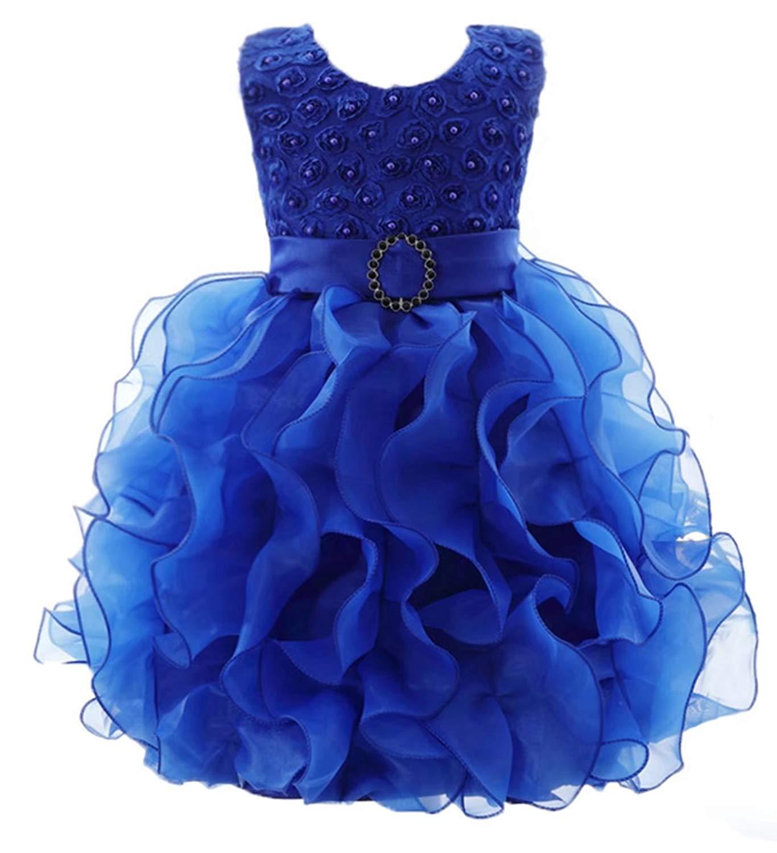 3d28e455e76 Get Quotations · ADHS Infant Newborn Kids Baby Girls Flower Wedding Gowns  Prom Dress