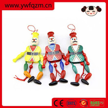 wooden clown pull toy old fashioned mini baby dolls