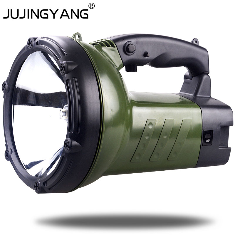 Portable rechargeable 100W searchlight outdoor halogen lighting emergency patrol spotlight