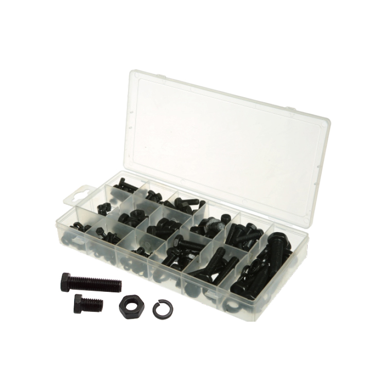 Kit Hardware 240 PZ Nero USS Bulloni e Dadi Assortimento Kit Set