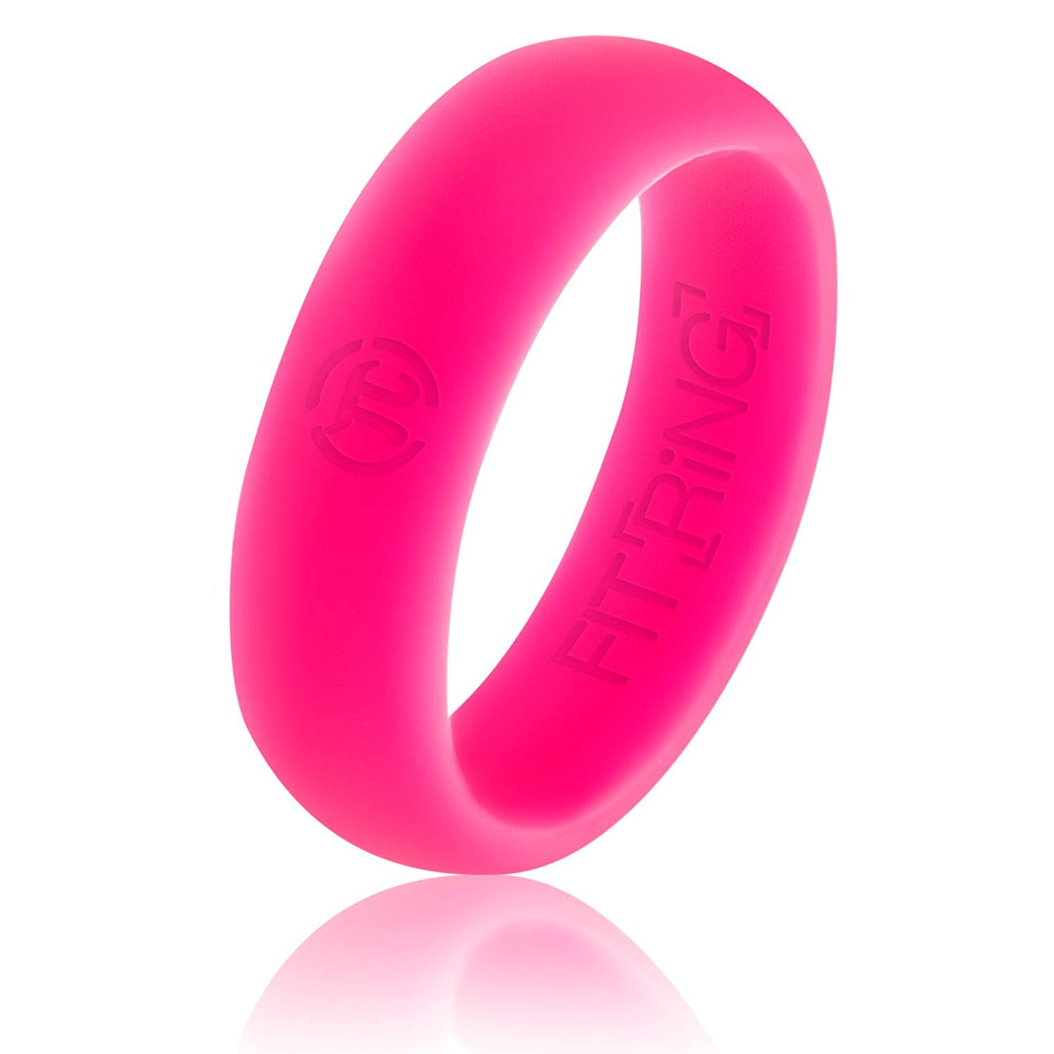 Buy QALO Mens Silicone Wedding Ring - Pink, Purple (From QALO \