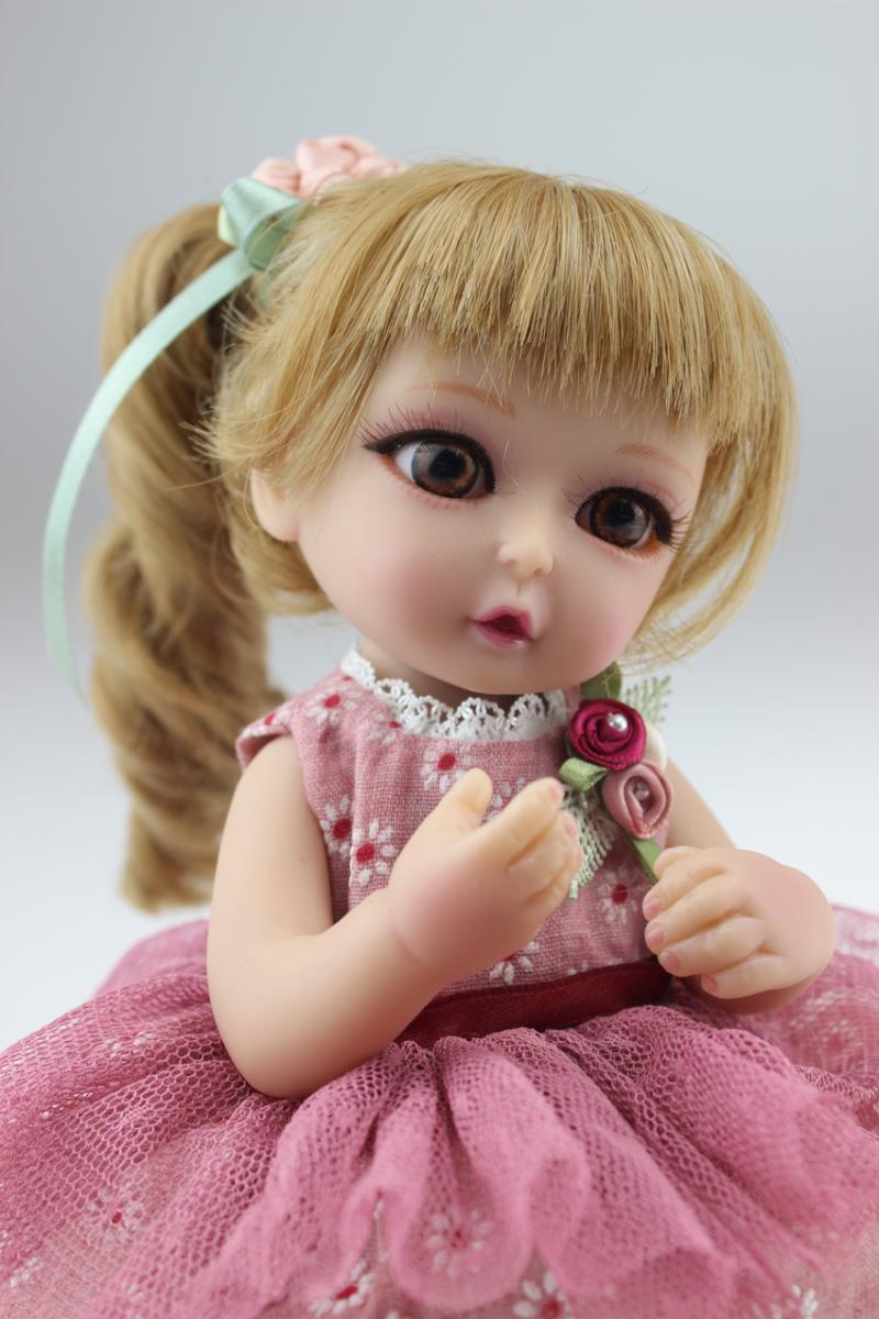 25cm Silicone Baby Reborn Dolls Baby Baby Mini Sd Bjd