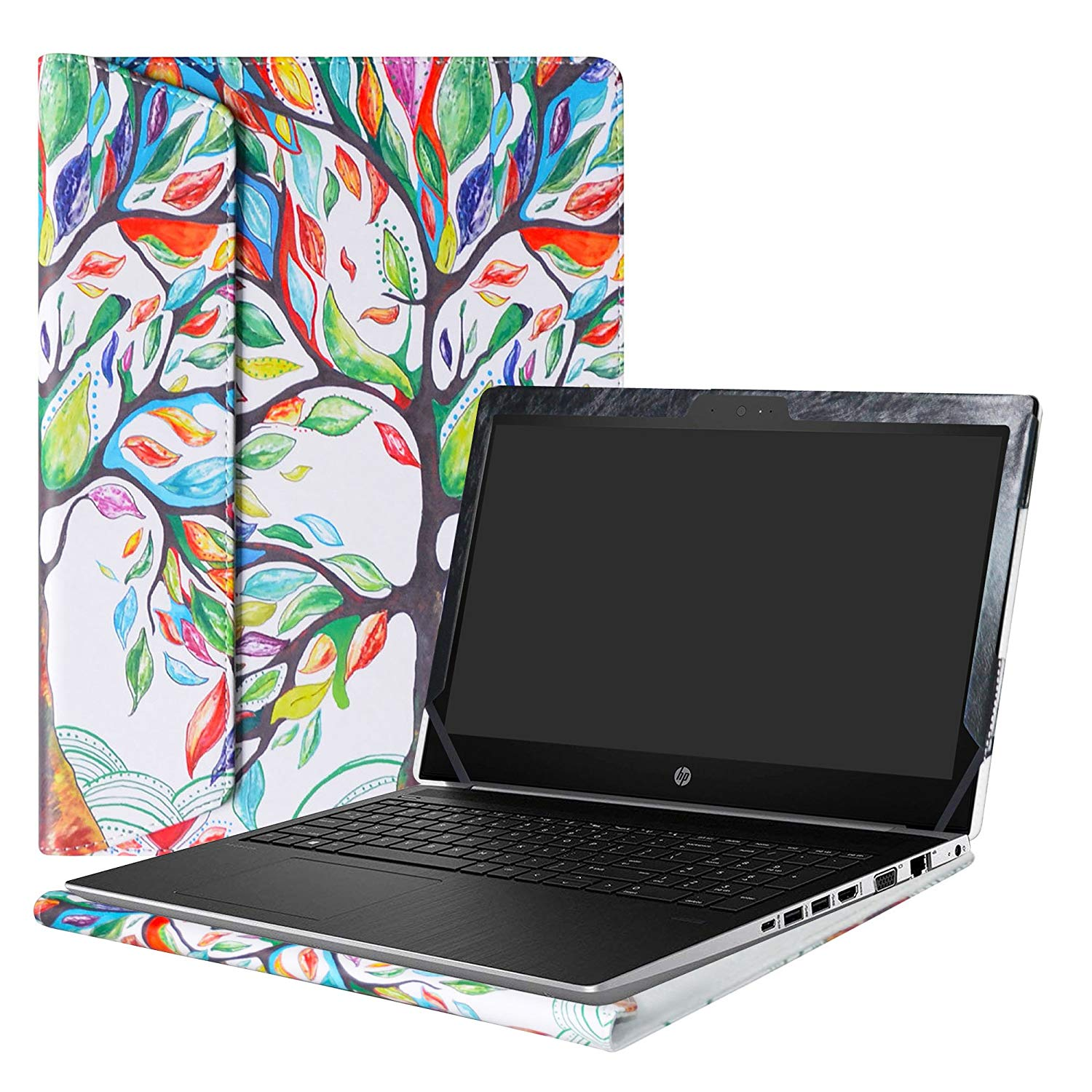 "Alapmk Protective Case Cover For 15.6"" HP ProBook 450 G5/ProBook 455 G5 Series Laptop(Warning:Not fit HP ProBook 450 G4 G3 G2 G3 G0/ProBook 455 G4 G3 G2 G1),Love Tree"