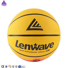 Lenwave brand basketball ball size 7 best price custom rubber basketball wholesale