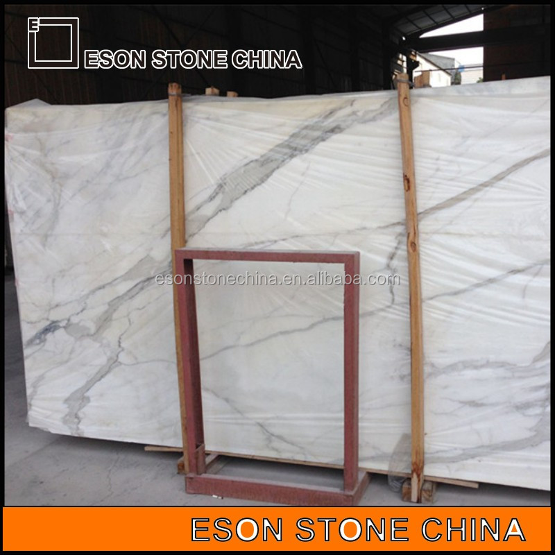 Eson Stone calacatta gold white marble slab and tile for master room floor and wall