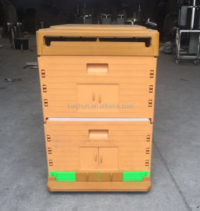 Wholesale plastic bee hive with complete bee hive kits for beekeeper, assemble beehive and plastic hive frame
