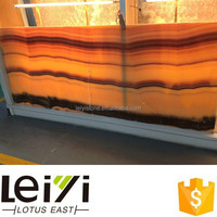 Beautiful high quality vein cut mexico yellow onyx for sale