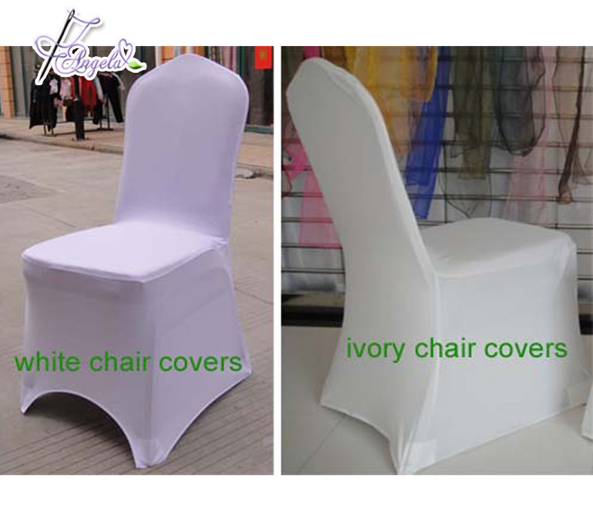 Cheap Popular Wedding Stretch White Banquet Chair Cover and Satin Favors Sash
