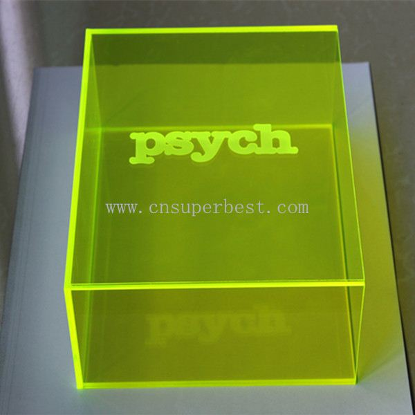 Custom made clear acrylic product acrylic box with paper sleeve