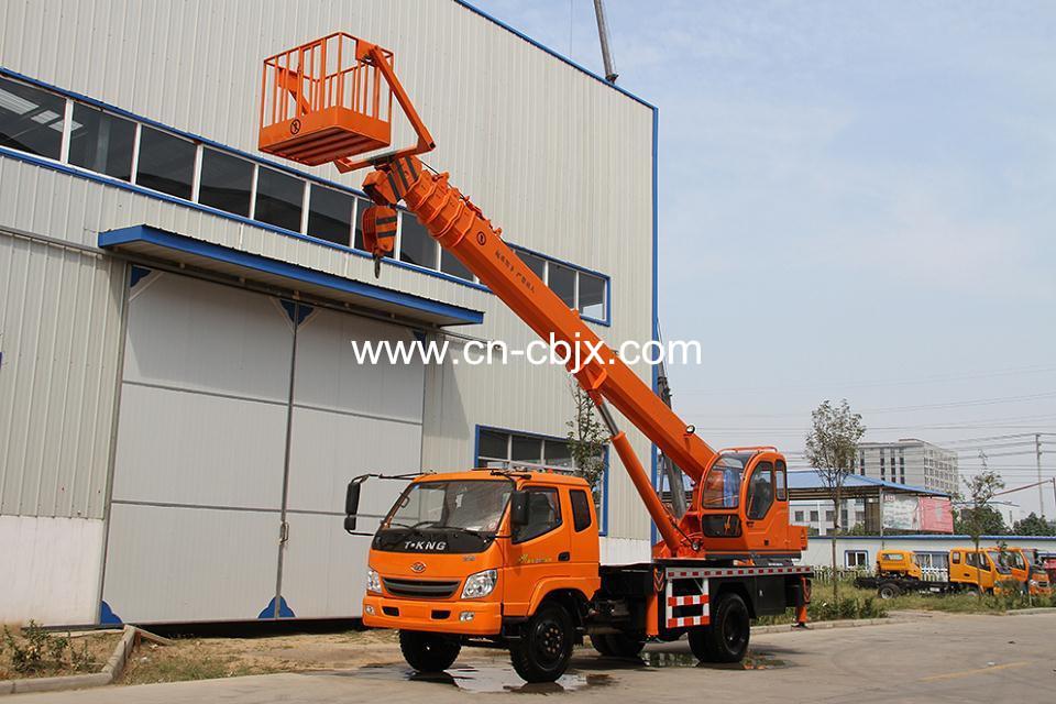 China Manufacturer Hydraulic Telescopic Boom Mobile 10 Ton Truck ...