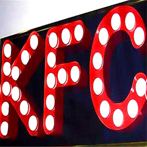 Customized 3d logo big bulb letter signage metal led channel letter