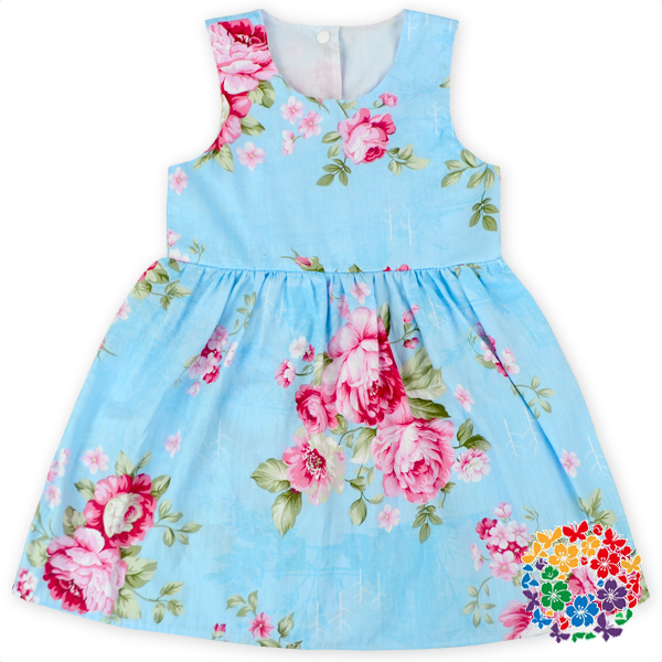 Fashion Girls Floral Long Frocks Dress Kids Party Wear Cotton Dresses For Girls Summer 3-5 Year Old Girl Sleeveless Dress