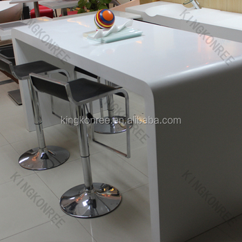 Solid Surface High Top Bar Tables Long Narrow Table